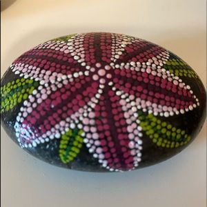 Painted river rock